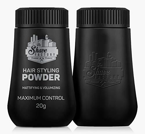 The Shave Factory Hair Styling Powder 20g Mattifying & Volumizing Powder with Maximum Control