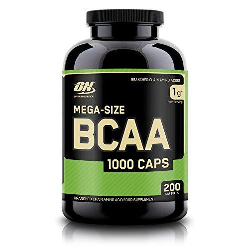 Optimum Nutrition BCAA 1000, Cápsulas BCAA, Suplementos Deportivos, Rico en Aminoacidos Ramificados y Esenciales, para Mejor Recuperación, Sin Sabor, 100 Porciones, 200 Cápsulas