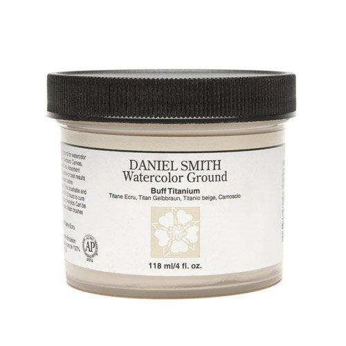 Daniel Smith Watercolor Ground 4oz Jar, Buff Titanium, 284055005, 4-Ounce