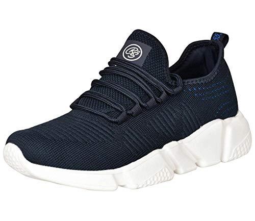 Crosshatch Herren Sneaker mit Schnürung, flach, Größe 40-40, Blau - navy - Größe: 42 1/3 EU
