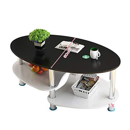 Bureau DD bijzettafel, woonkamer bank salontafel, ovale houten snacktafel, 3-tier plank -werkbank
