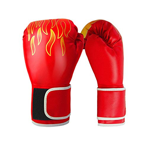 JGPIN Flame Pattern Boxing Gloves, Kickboxing /Combat /Sparring /Training /Sandbag / Competition Gloves for Men & Women…