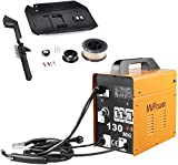 MVPower Saldatrice MIG 130 230V, Saldatrice A Filo Continuo, Attrezzatura per Saldatura Professionale Con Accessori 0.8-0.9mm Modello No-Gas