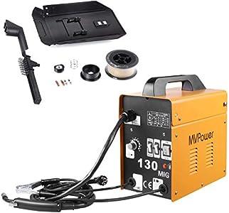 MVPower Soldadora MIG 130 230V Máquina de Soldadora Aparato Eléctrico de Soldadura Máquina de Soldar Portátil para Casa Color Amarillo