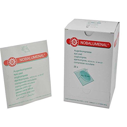 25x Augenkompressen NOBALUMENAL®- steril, Augenschutz, Vliesstoffkompresse, 54 x 70 mm