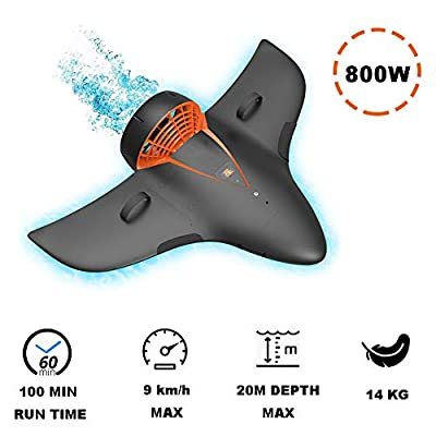 Underwater Booster, Double Propeller Underwater Scooter, 20 Depth Meters 3 Speed Functioning 100 min for Water Sports Swimming Pool & Diving & Snorkeling & Sea Adventures