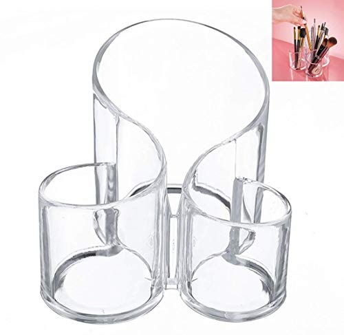 BS-MALL Makeup Brush Organizer for Countertop Display Container Cosmetics Brushes Desk Stand Different Size Brushes