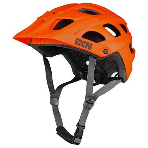 IXS RS Evo Helm MTB Trail/All Mountain Erwachsene, Unisex, Orange, SM (54 – 58 cm)