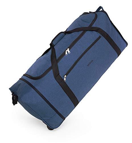 blnbag M4 - Borsa da viaggio morbida con ruote, leggera, borsa pieghevole con ruote, borsa con ruote, 90 litri