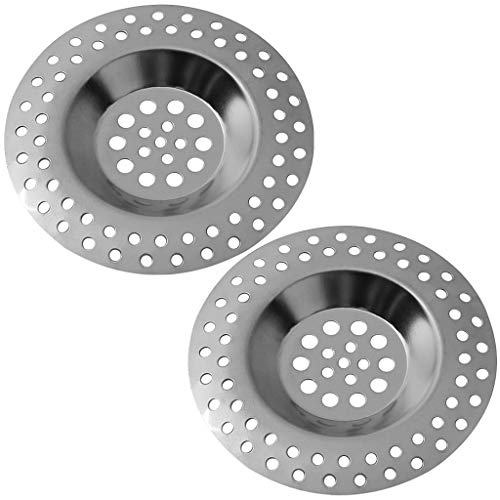 Stainless Steel Kitchen Sink Strainer Plug,Strainer Drain Protector for Kitchen and Bathroom, Hair Stopper for Bathtub,Dia.7.5cm