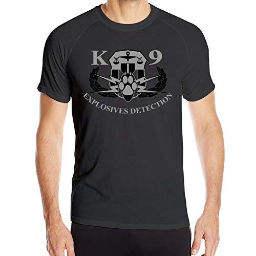 GUANGZHOUHONGYUAN Explosives Detection K9 Men T-Shirt Athletic Shirt Quick-Drying Sweatshirt Black