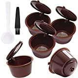 Cápsulas Filtros de Café Recargable Reutilizable para Cafetera Dolce Gusto Resistente Más de 150 Usos de Sustitucion de Cápsula de Café Dolce Gusto, 7pcs