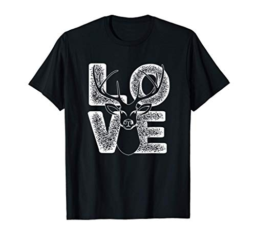 I Love Deers Costume Cute Hunting Gift For Man And Woman T-Shirt