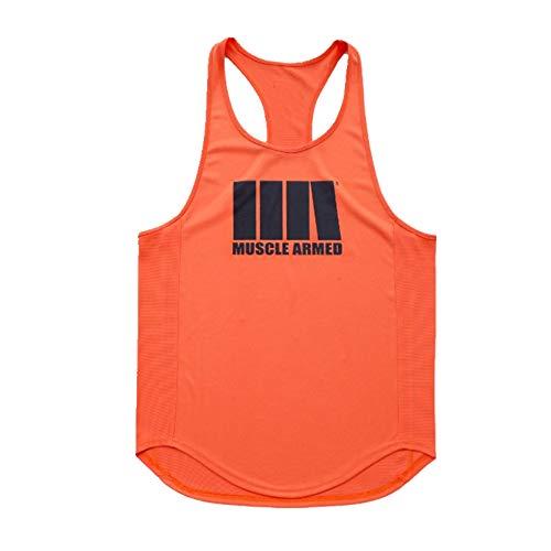 Preisvergleich Produktbild Weste Herren Running Trainingsweste Fitness Weste Herren Schnelltrocknend Weste Gr. M,  Orange
