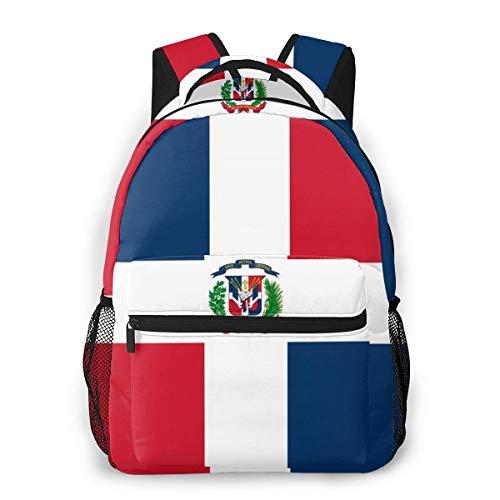 Mochilas para niños con bandera de dominicanos impermeables para portátiles, mochilas de viaje para la escuela, mochila de viaje para niños y niñas