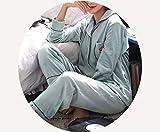 WCZ Sra Invierno Lana de Coral Marea Pijama Espesar Manga Larga Otoño Ropa de Dormir Terciopelo Isla Servicio a Domicilio Sección Delgada Traje Ropa de Noche Ca