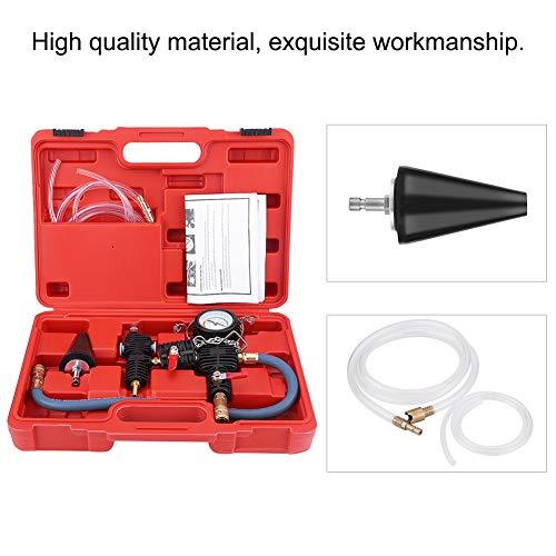 Cerlingwee Kit De Recarga, Kit De Sistema De Enfriamiento Fácil De Montar Herramienta De Purga por Vacío De Almacenamiento Simple para Un Tiempo De Servicio Prolongado