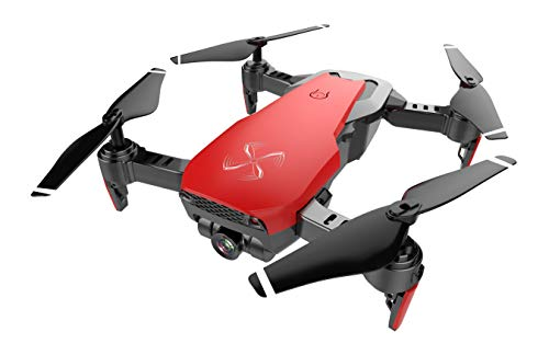Drone X Pro AIR (RED) 1080P HD Dual Camera Quadcopter with Follow Me Real-Time Transmission Gesture Control Optical Flow Positioning and 2pcs Batteries Included