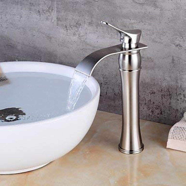 Zeitgenssische Centerset Einhand Ein Loch Nickel gebürstet gebürstet, Waschbecken Wasserhahn