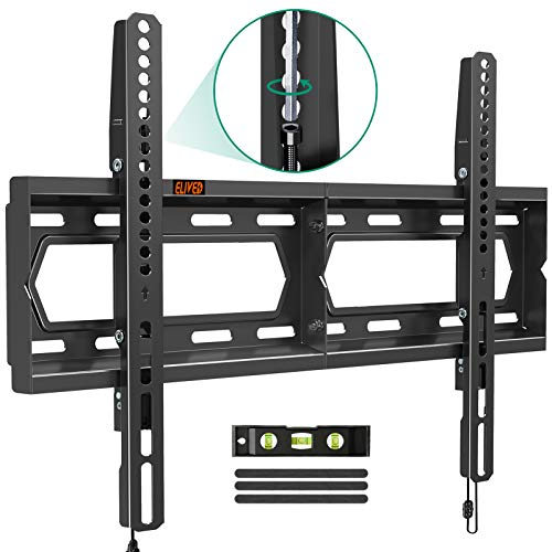 """Fixed TV Wall Mount Bracket, Universal Low Profile TV Mount for 42-70 Inch Flat Screen TVs, You Can Level After Mounting & Space Saving for 16/18/24"""" Studs, Max VESA 600x400mm, 100 lbs. Loading ELIVED"""