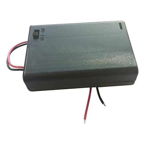 Batteriehalter-Gehäuse, 3x AA, mit Schalter und Anschlusslitzen