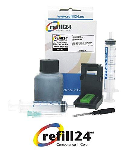 Navulset voor inktpatronen Canon 540 540 540 XL zwart incl. clip en accessoires + 50 ml inkt