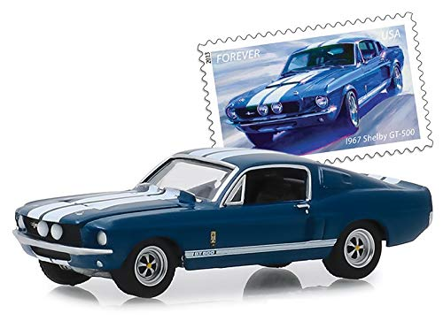 Greenlight 30067 1967 Shelby GT500 - Postal Service America on The Move: Muscle Cars (Hobby Exclusive) 1:64 Scale