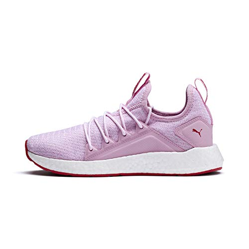 PUMA NRGY Neko Strick Youth Sneaker Pale Pink-White-Hibiscus UK 3.5_Youth_FR 36