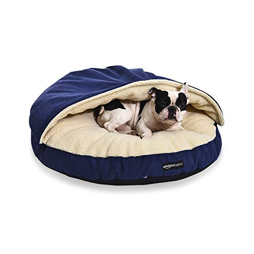 AmazonBasics Pet Cave Bed, Large, Blue