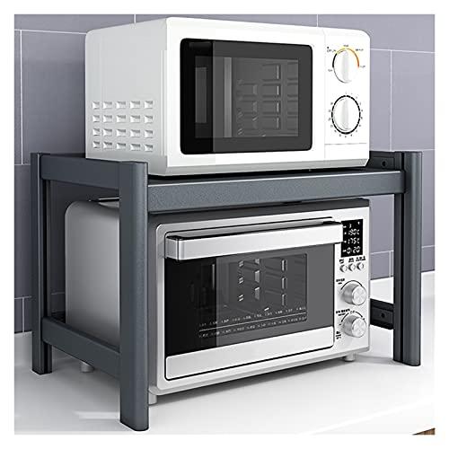Estante Soporte de impresora, 2 niveles Estante de almacenamiento multiusos, soporte de horno de microondas, impresora multifunción de escritorio Escáner de copiadora Soporte de estante estante multiu