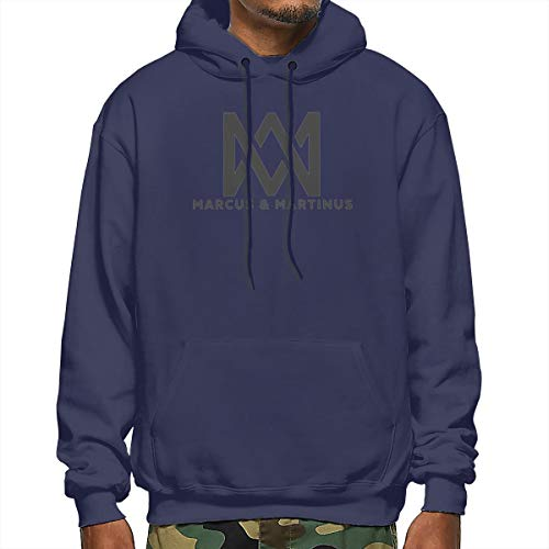 Marcus & Martinus Unisex Pullover Couple Hoodie Hooded Sweatshirt Colorful XXL Gray