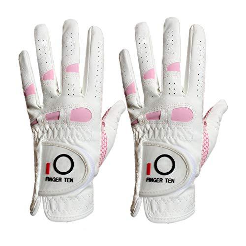 FINGER TEN Golfhandschuhe Damen Linke Hand Rechte 2 Stück(Not Paar) Extra Griff Allwetter 3D Performance Golf Handschuhe Links Rechts rutschfest Weicher Komfort,Größe S M L XL, Rechten Hand,S