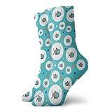 Calcetines de compresión para mujer y hombre, patrón de lunares con formas de burbujas en el interior del mar para acuario, ideal para circulación, médico, correr