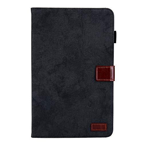 Case für Samsung Galaxy tab A 10.1 A6 2016 T580 Tablet case weiche TPU Abdeckung Auto Sleep mit Stift Slot Halterung bilderrahmen Karte (Samsung Tab A 10.1,Black)