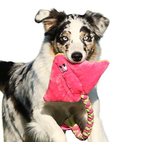 Robustes Hundespielzeug aus Plüsch Quietschend - Interaktives Spielzeug zum Training, Tauziehen und Zerrspiele mit Hund - Kuscheltier für Welpen, Medium und Große Hunde - Handgefertigt in der EU