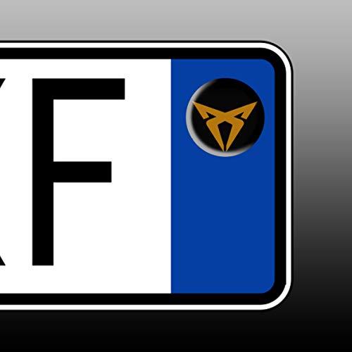 Stickers 3 pz Kit Adesivi RESINATO Effetto 3D BOLLINO Targa Auto Moto Plate targaplate Cupra v2