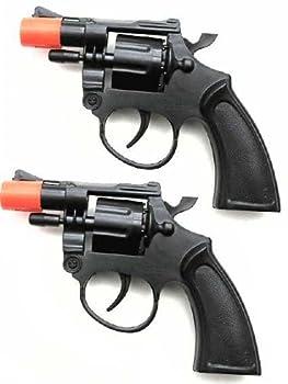 Toy Cap Gun  Set Of 2 Police Style 38 Super Cap 8-Shot Revolvers