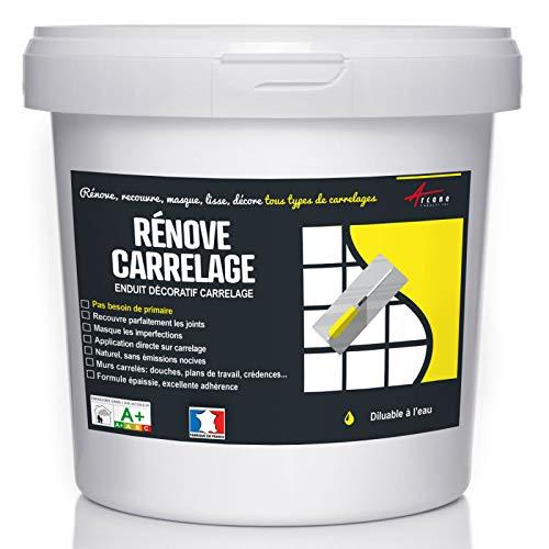 Putz für Fliesen - Fliesen verputzen - Betonbeschichtungs-Effekt - RENOVE CARRELAGE - Terrakotta - Kit 4kg - 2.6m² für 2 Schichten