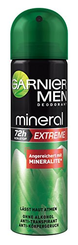 Garnier Men Deodorant Mineral Extreme - Deospray Männer 72h, 3er Pack (3 x 150 ml)