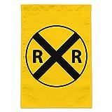 Railroad Crossing Traffic Sign Train Garden Yard Flag (Pole Not Included)