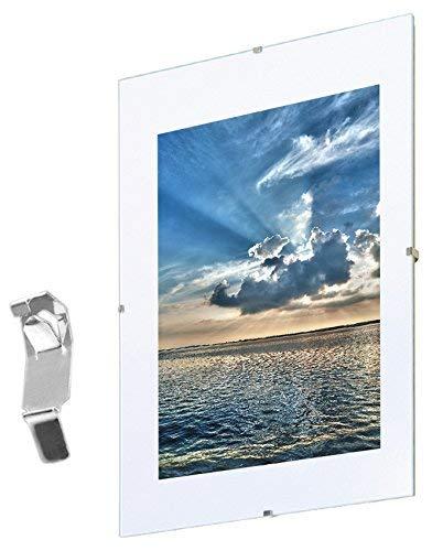 Mein Landhaus Bilderrahmen, Randlos-Rahmen, Urkunden Rahmen, Normalglas, Plexiglas, Rahmenlos, Rahmenloser Bildhalter (70x100cm)