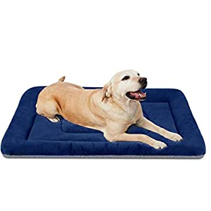 JoicyCo Large Dog Bed Washable Crate Pad Anti-Slip Mat 36/42/47 inch Soft Pet Beds Mattress Kennel Pads
