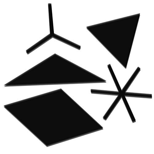 Emoshayoga Etiqueta de la Pared Impermeable Autoadhesivo Respetuoso del Medio Ambiente para el baño(Black Medium)