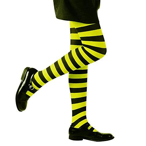 Widmann 01213 Gestreifte Strumpfhose Kostüm, girls, XS