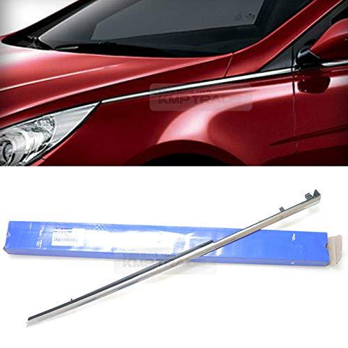 OEM 877713S001 Ventilador Delantero Lateral (Lado Izquierdo) Cromado Moldeado para Hyundai 11-14 Sonata / i45