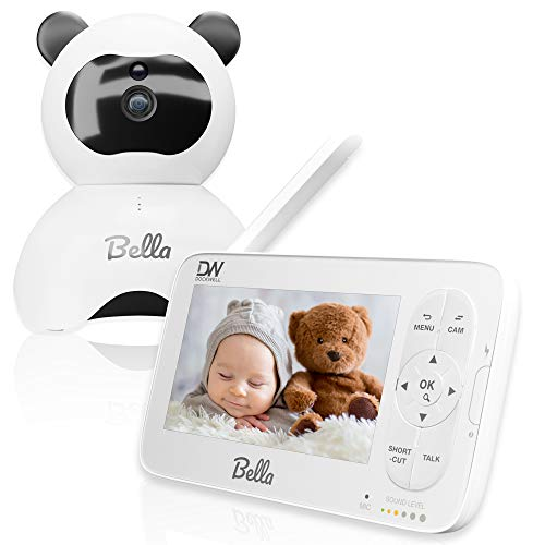 Dockwell Baby Monitor 720P 5' HD Display Video Baby Monitor with Camera and Audio, 900ft Range, 2 Way Audio, Night Vision, 1 Click Zoom, Noise Alert, Thermal Monitor and Many More Alerts and Features