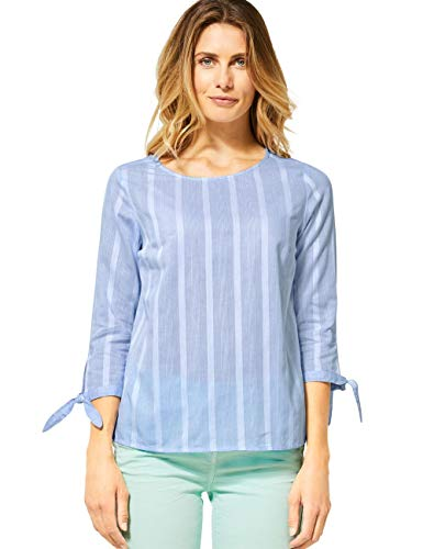 Cecil Damen 342146 TOS Big Stripe Bluse, Blouse Blue, Medium