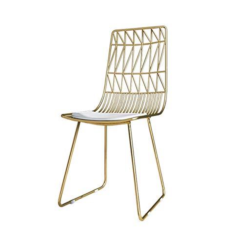 Fer Chaise de salle à manger Chaise de bar Coiffeuse Comptoir Chaise Café Restaurant Table à manger Chaise Bureau à domicile chaise d'affaires Dossier Chaise de loisirs