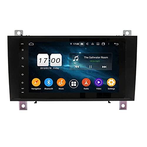 WYZXR GPS 9 Inch Car Radio Stereo Touch Screen Head Unit for Mercedes Benz SLK R171 W171 2000-2011, GPS Navigation/BT/WiFi/Mirrorlink/SWC/Rear View Camera