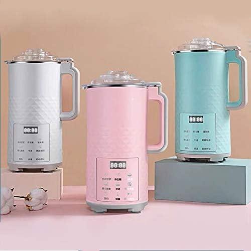 BMMMZ 700ml électrique Automatique Soymilk Machine Multifonction Mini ménages Juicer de soja Lait Stir Riz pâte Maker sans Filtre (Color : White) Green